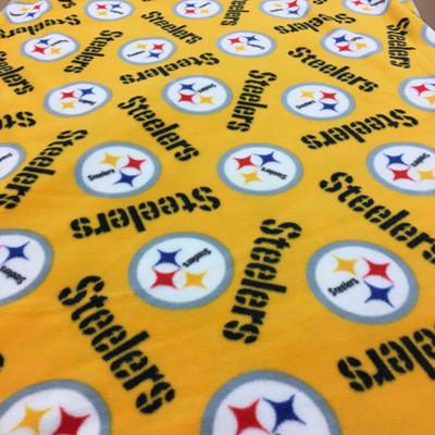 Pittsburgh Steelers YELLOW Logo Fleece Fabric