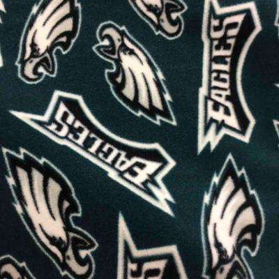 Philadelphia Eagles Forest Green White and Black Fleece Fabric