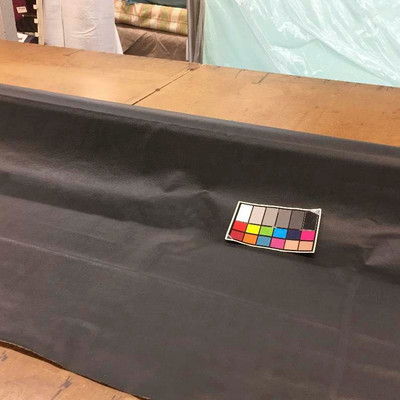 """Black Faux Leather Vinyl Upholstery Fabric By The Yard 54""""W Heavy Grain Matte"""