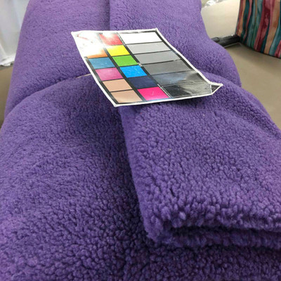 Purple Faux Sheep Wool Sherpa Fabric