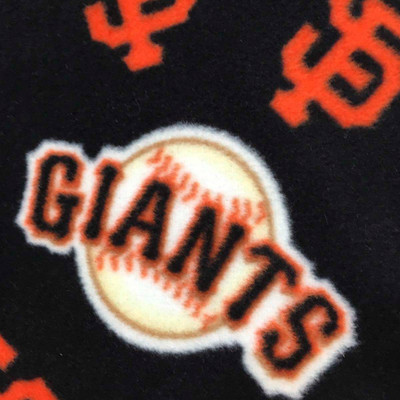 San Francisco Giants Baseball Team Orange and Black Logo MLB Fleece Fabric