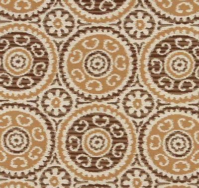 Robert Allen ELEGANT SUZANI WALNUT UPHOLSTERY Fabric