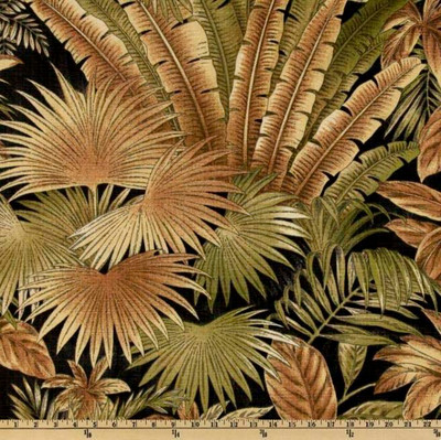 Tommy Bahama Indoor/Outdoor Bahamian Breeze Coal Drapery / Upholstery Fabric