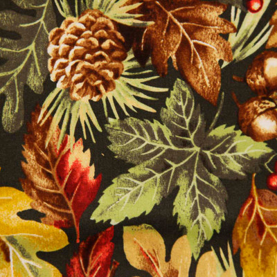 Camden S#J7052 Black Leafs Quilting Fabric