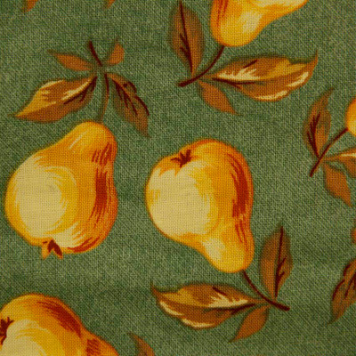 Green Pears Printed Quilting Fabric