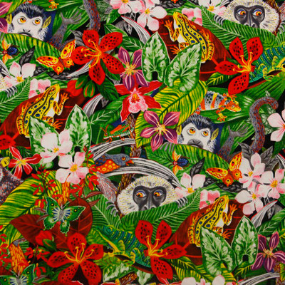 Jungle Monkey Quilting Fabric