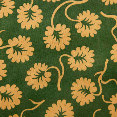 Green Tan Sm Flowers Quilting Fabric