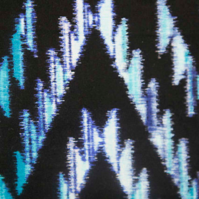Tribal Blanket Teal Quilting Fabric