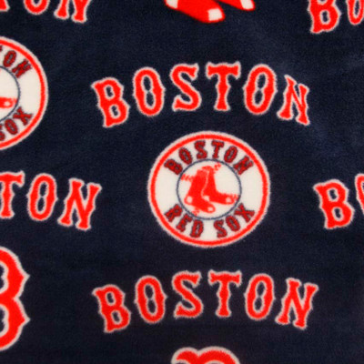 Boston Red Sox Dark Blue Fleece Fabric