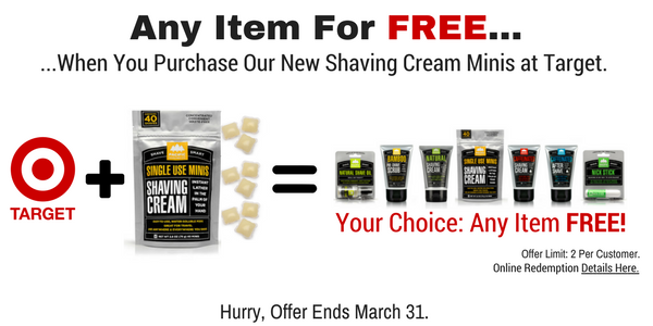 Single-Use Shaving Cream Minis Promotion