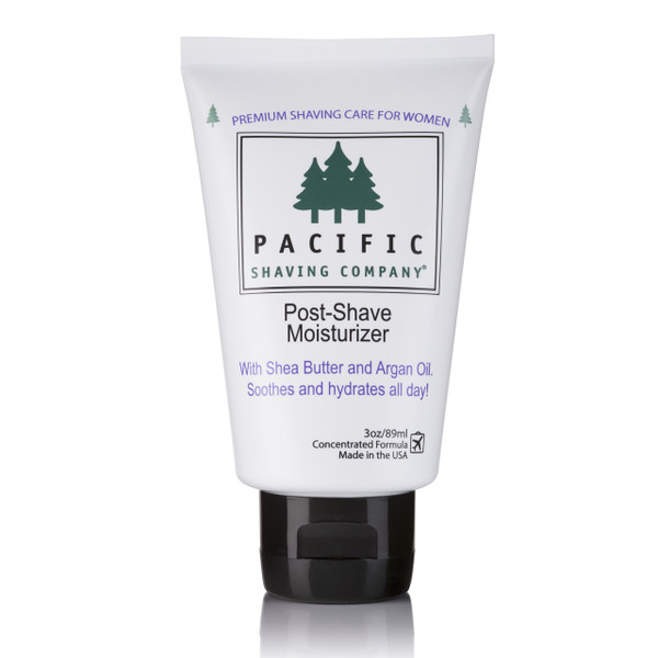 Women's Post-Shave Moisturizer by Pacific Shaving Company. Don't let shaving leave you dry. Add this super-enriched moisturizer -- with shea butter and argan oil -- to your shaving routine for all-day hydration. Made with safe, natural, and organic ingredients, this formula is designed to go the distance. Use a little in the morning and you'll still be silky smooth by dinner.
