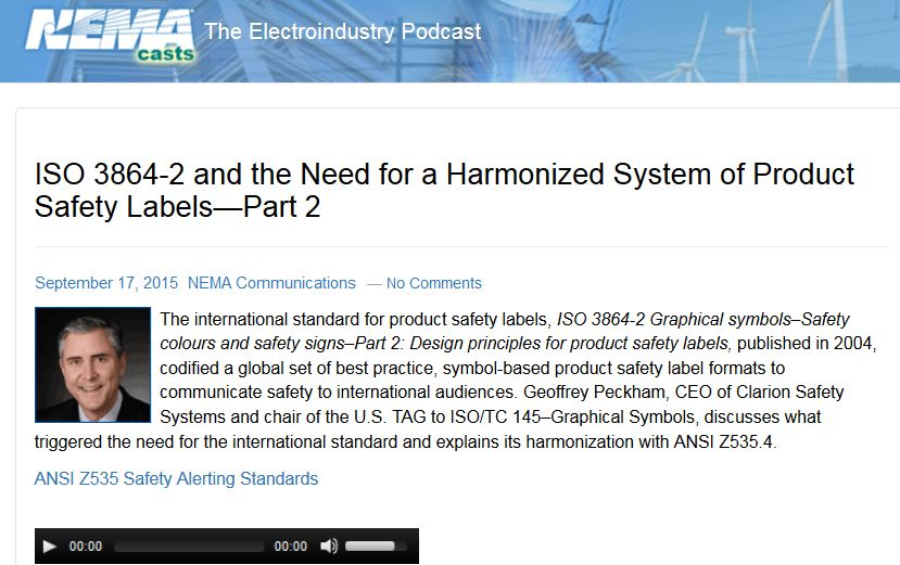 ISO 3864-2 and the Need for a Harmonized System of Product ...