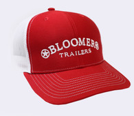 Red Cap with White Bloomer Trailers Logo