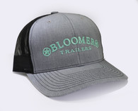 Heather Grey Cap with Teal Bloomer Trailers Logo