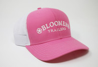 Pink Cap with White Bloomer Trailers Logo