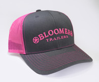 Charcoal Cap with Neon Pink Bloomer Trailers Logo