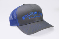 Charcoal Cap with Royal Blue Bloomer Trailers Logo