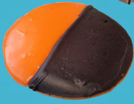 Orange & Black Halloween Cookies.  Limited Time!