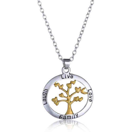Tree of Life 18 inch Fashion Necklace Live Laugh Love Family