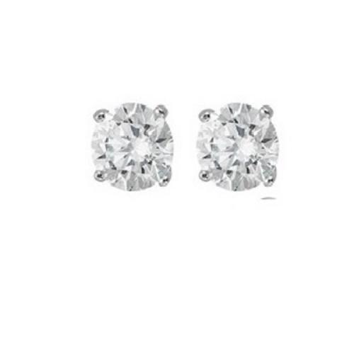Sterling Silver Round 6mm CZ Stud Earrings