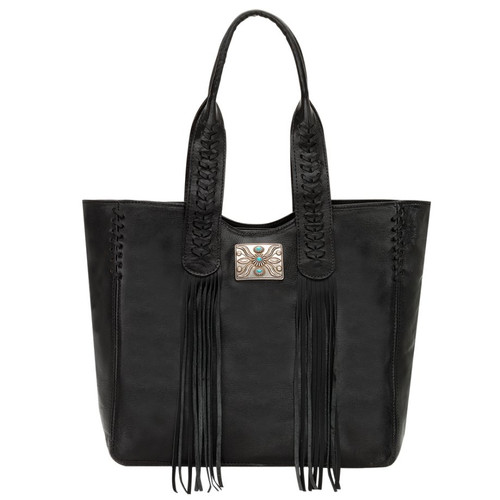 American West Mohave Canyon Large Zip Top Tote Black
