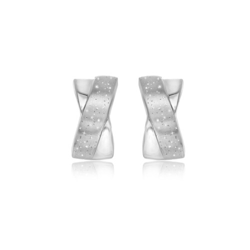 Sterling Silver Stardust Earrings with an X Design