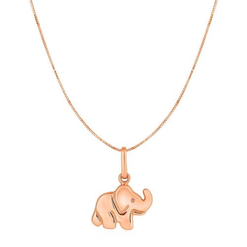 Elephant Pendant in 10K Rose Gold