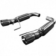 "KOOKS AXLE-BACK EXHAUST OEM INLET TO 3"" MUFFLERS AND POLISHED TIPS 2015-UP MUSTANG GT 5.0L COYOTE 11516200"