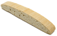 Anise gives a licorice flavor to a vanilla biscotti cookie.