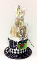 Small Frosty's Hat Biscotti Gift Basket