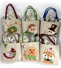 Burlap Holiday Bags
