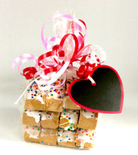 12 Truly Vanilla Biscotti with ribbon