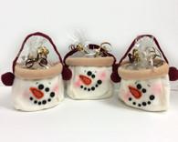 Snowman Bag Mini Biscotti Gift