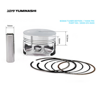 YUMINASHI 60MM TUNER EDITION PISTON SET (14MM PIN) (13100-014-600)