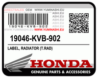 E-10/ 04. LABEL (PCX125 V1 OEM PARTS)