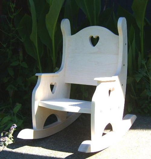 Childu0027s Rocking Chair, Hardwood Unfinished
