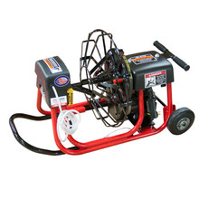 """DM10 SPA drain cleaning machine with 19"""" open reel and 1/2"""" x 75' drain cable for residential drain line cleaning"""