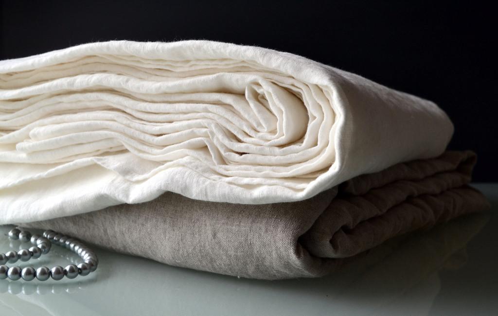 Antique white pure linen sheet/Top sheet