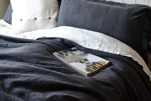 Peppercorn Rustic Heavy weight Linen Quilt/Duvet cover, All sizes