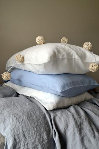 White linen pillow case