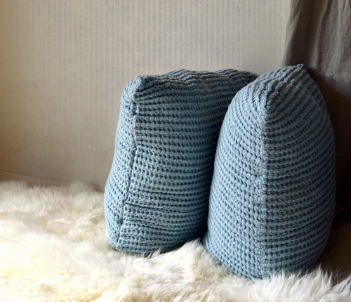 Duck Egg Blue Waffle Linen Pillow Case. Super heavy weight linen