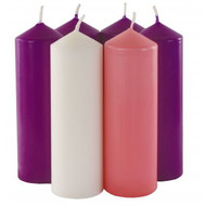 "Advent Candles 6"" x 2"" (Box of 6)"