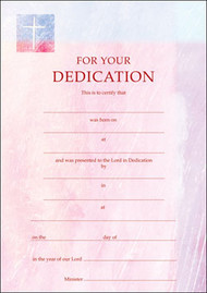 Certificate of Dedication Pack of 10