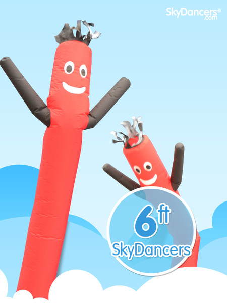 Sky Dancers Red & Black - 6ft