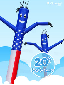 Sky Dancers American Flag - 20ft