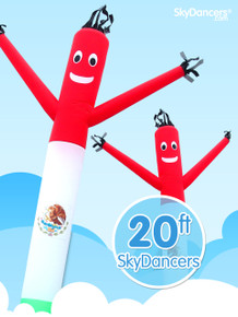 Sky Dancers Mexican Flag - 20ft