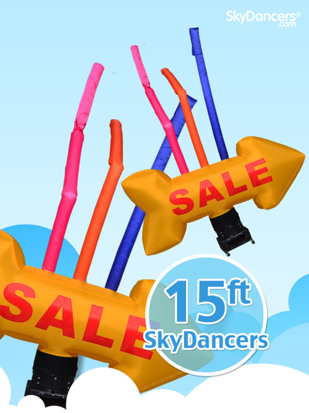 SkyDancers.com Yellow Giant SALE Arrow with Tubes
