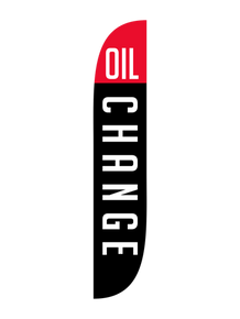 Oil Change Black Feather Flag