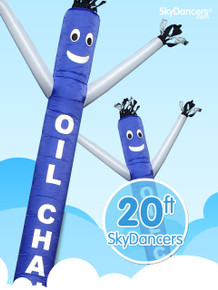 Sky Dancers Oil Change Blue & White - 20ft