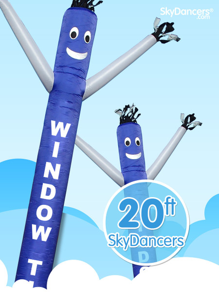 Sky Dancers Window Tint Blue & White - 20ft